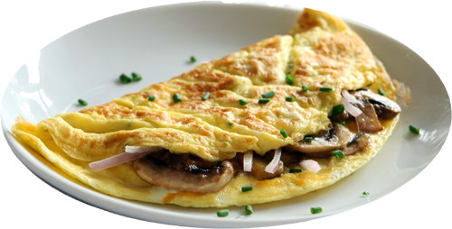 Crab and Mushroom Omelet