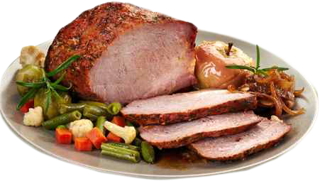 Roast Pork with Apples & Onions