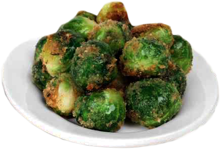 Roasted Brussel Sprouts with Almond Balsamic