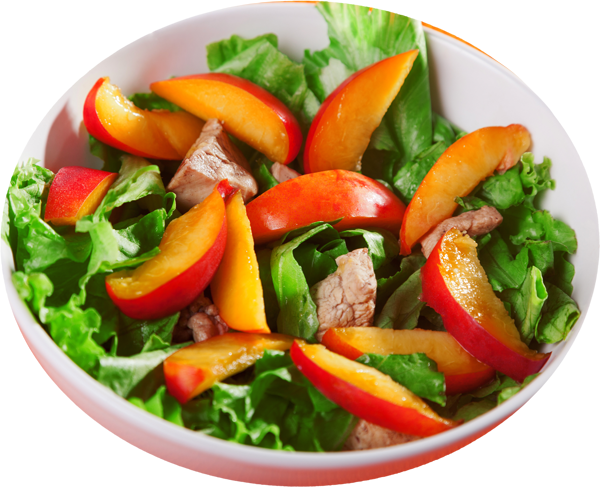 Salad with Peaches in a Vinaigrette