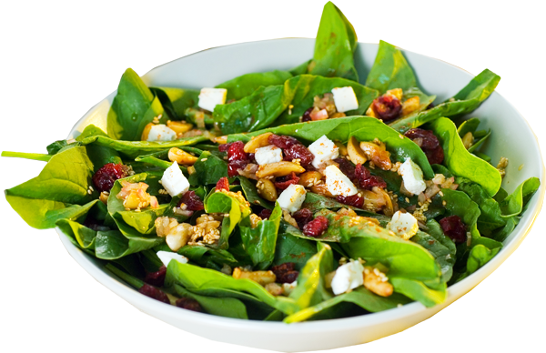 Spinach Salad w/Cranberries