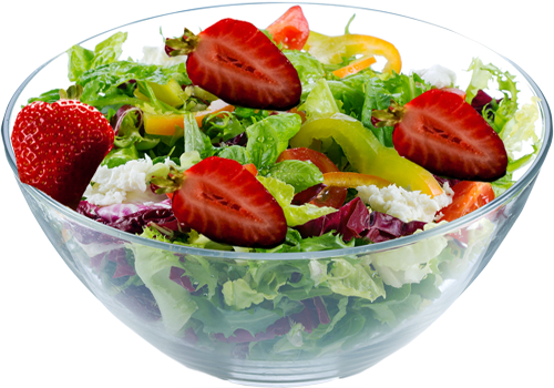 Mixed Green Salad with Strawberry Dressing