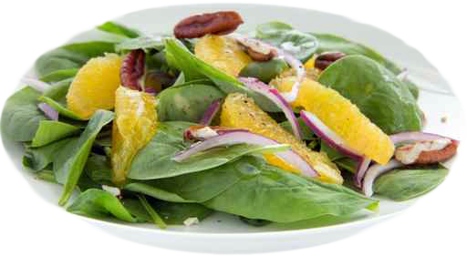 Fall Greens with Orange Basil Vinaigrette